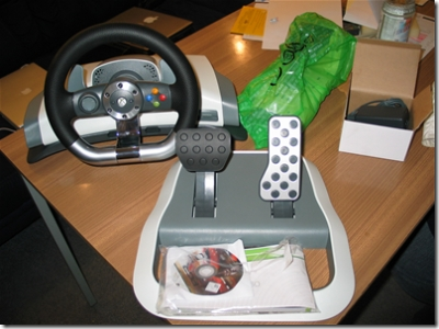 how to connect mc2 steering wheel to xbox 360
