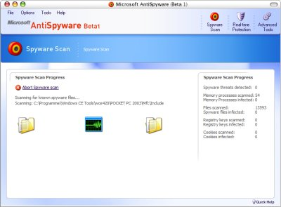 Microsoft antispyware beta1 review, free download.